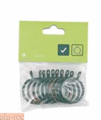Bolsa de 10 ud de anillas for Anillas plastico para cortinas