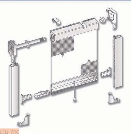Mosquitera de aluminio enrollable vertical for Puertas para piezas