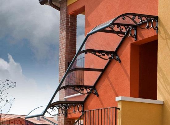 Marquesinas policarbonato - Escalera de techo ...