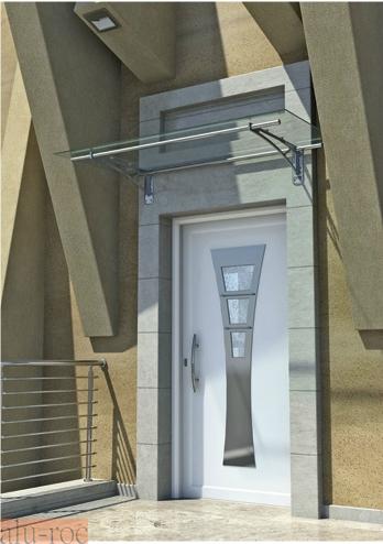 Techado de aluminio y vidrio plexiglas para viviendas de for Marquesinas para puertas