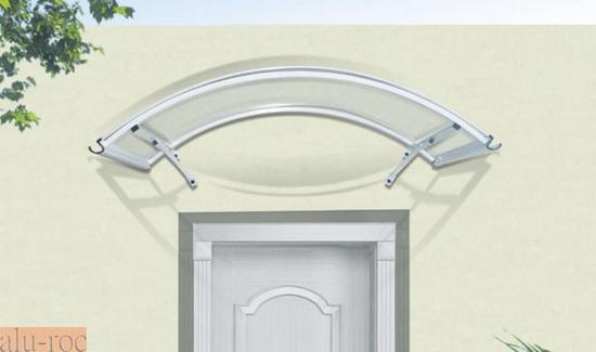 Marquesina barata de aluminio y policarbonato curve for Puertas exterior baratas